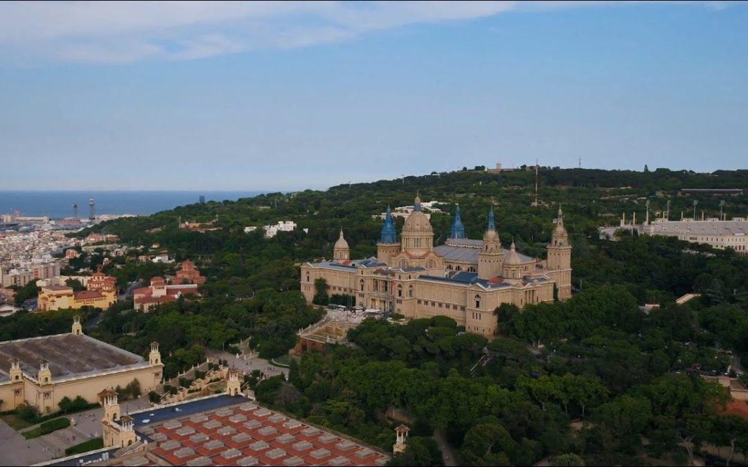 Aerial Views of Parc De Montjuic (Barcelona)