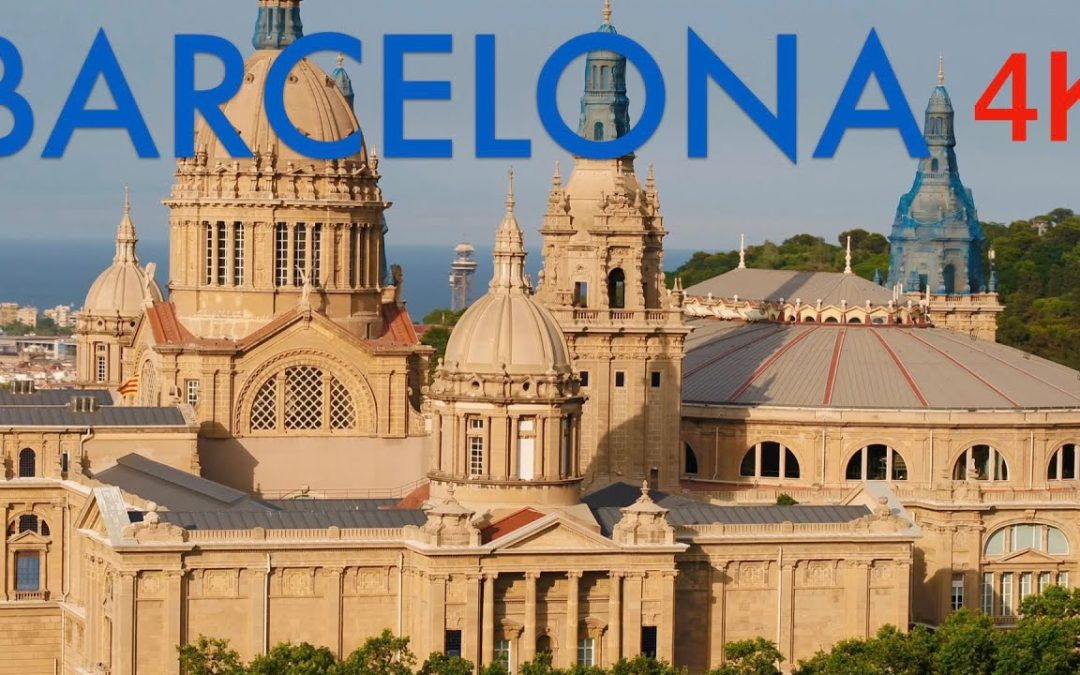 Barcelona 4K Drone Footage   Ultra HD Bird's Eye View Cinematic Ambient Film   Flying Over Spain