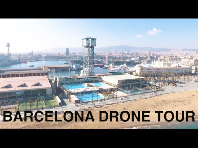 STUNNING BARCELONA BY DRONE